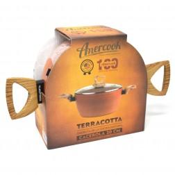 Cacerola Amercook Ter0520 Terracotta Induccion 20cm Tapa